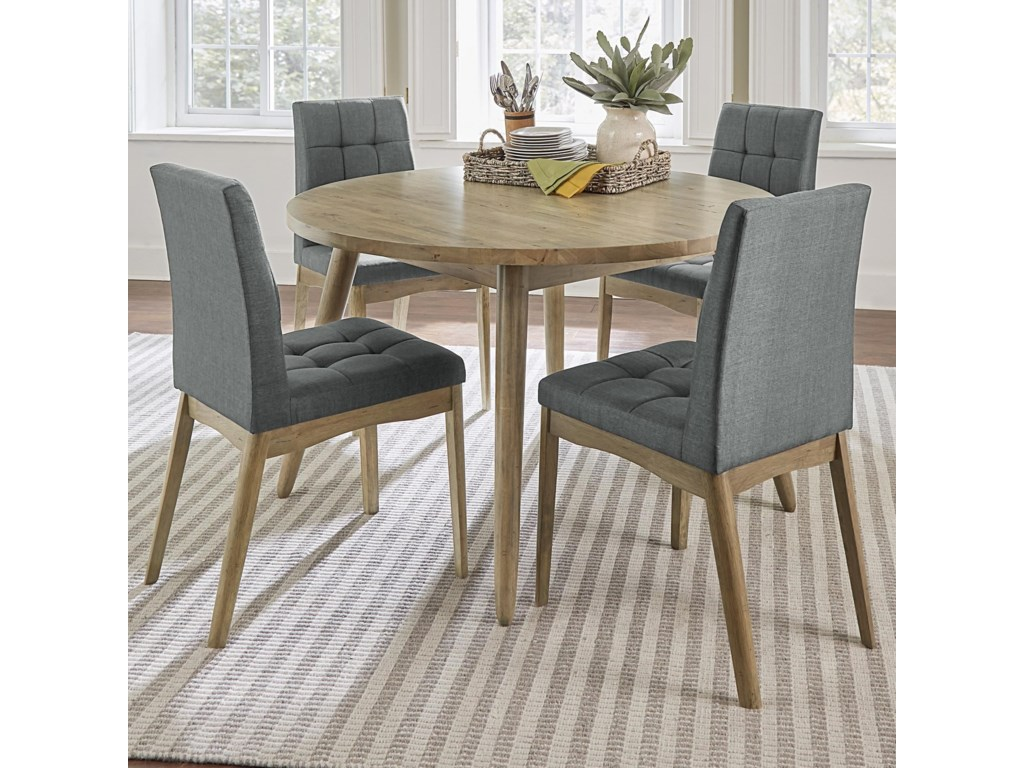 Barcelona 5-Piece Round Dining Table Set