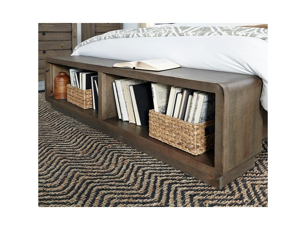 Progressive Furniture Bliss MochaQueen Panel Storage Bed