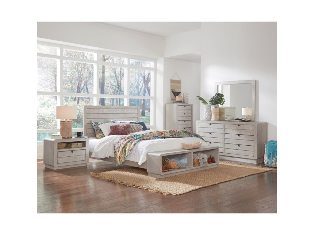Progressive Furniture Bliss Gray ChalkDresser and Mirror Combination