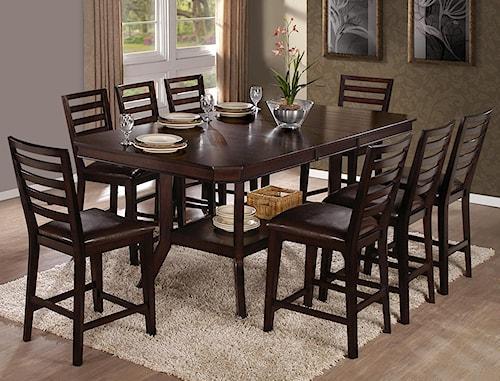 Progressive Furniture Bobbie 9-Piece Counter Table Set