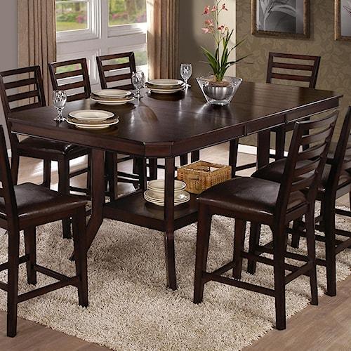 Progressive Furniture Bobbie Counter Table with Pedestal Base & 18