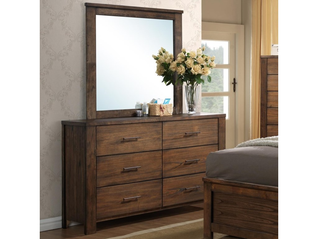 Progressive Furniture BraydenDrawer Dresser/Mirror Set
