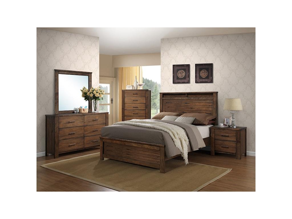 Progressive Furniture BraydenDrawer Dresser/Mirror Set