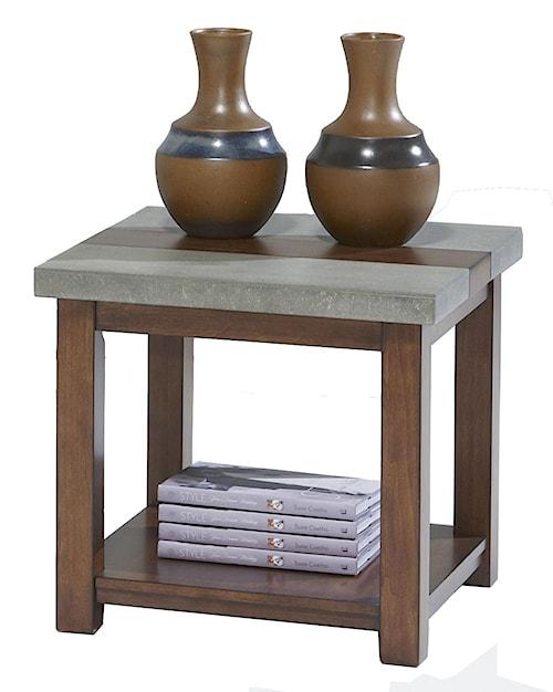 Progressive furniture cascade p426 02 square lamp table for Furniture 0 percent financing