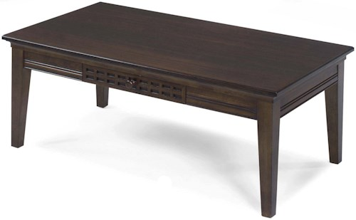 Progressive Furniture Casual Traditions Casual 4 Leg Cocktail Table with 1 Drawer