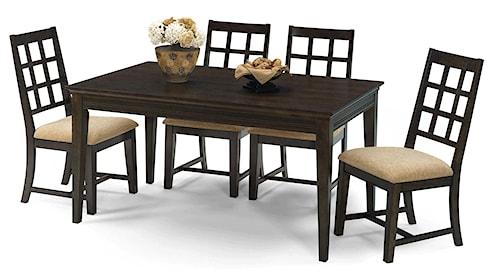 Progressive Furniture Casual Traditions Casual 5 Piece Rectangular Dining Set