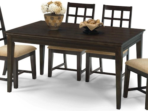 Progressive Furniture Casual Traditions Casual 4 Leg Rectangle Dining Table
