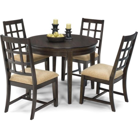 5 Piece Round Dining Table Set
