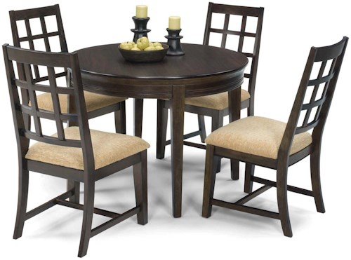 Progressive Furniture Casual Traditions Casual 5 Piece Round Dining Table Set