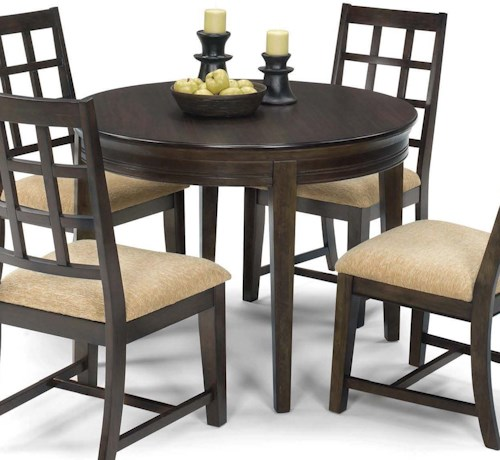 Progressive Furniture Casual Traditions Casual 4 Leg Round Dining Table