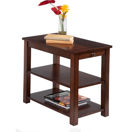 Progressive Furniture Chairsides Chairside Table with Pull Out Shelf