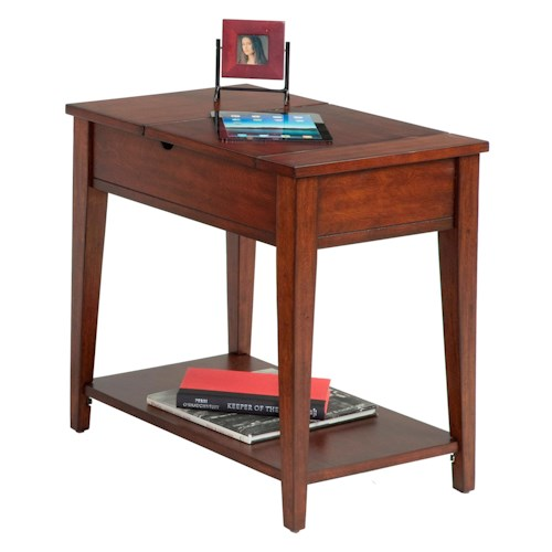 Progressive Furniture Chairsides Chairside Table with Flip Open Top