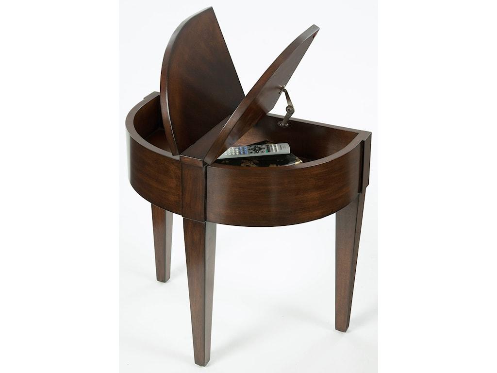 Progressive Furniture ChairsidesChairside Table with Hidden Storage