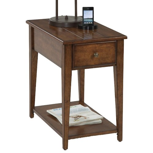 Progressive Furniture Chairsides Chairside Table with 1 Drawer & 1 Shelf