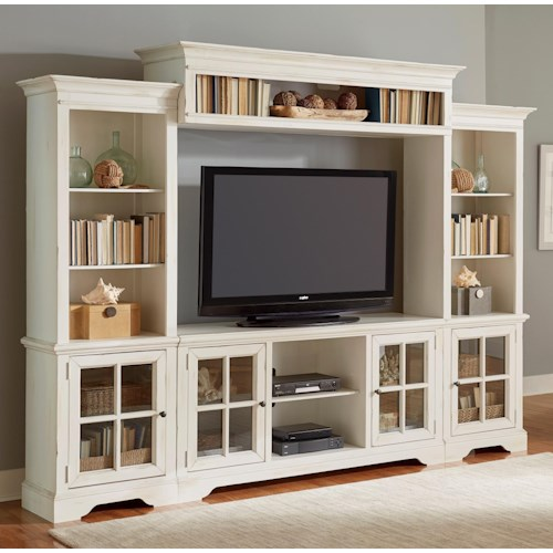 Progressive Furniture Charleston Entertainment Center in Light Finish