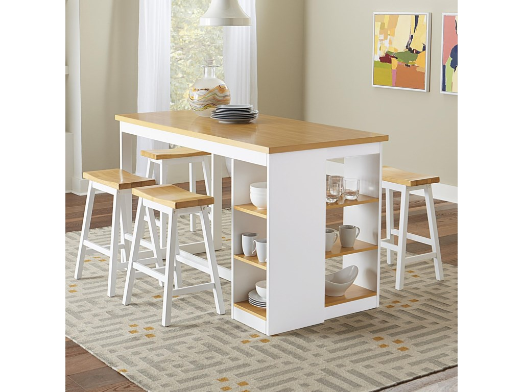 Christy Casual 5 Piece Pub Dining Set With Built In Storage By Progressive Furniture At Van Hill