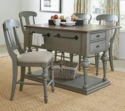 Progressive Furniture Colonnades 5 Piece Dining Set