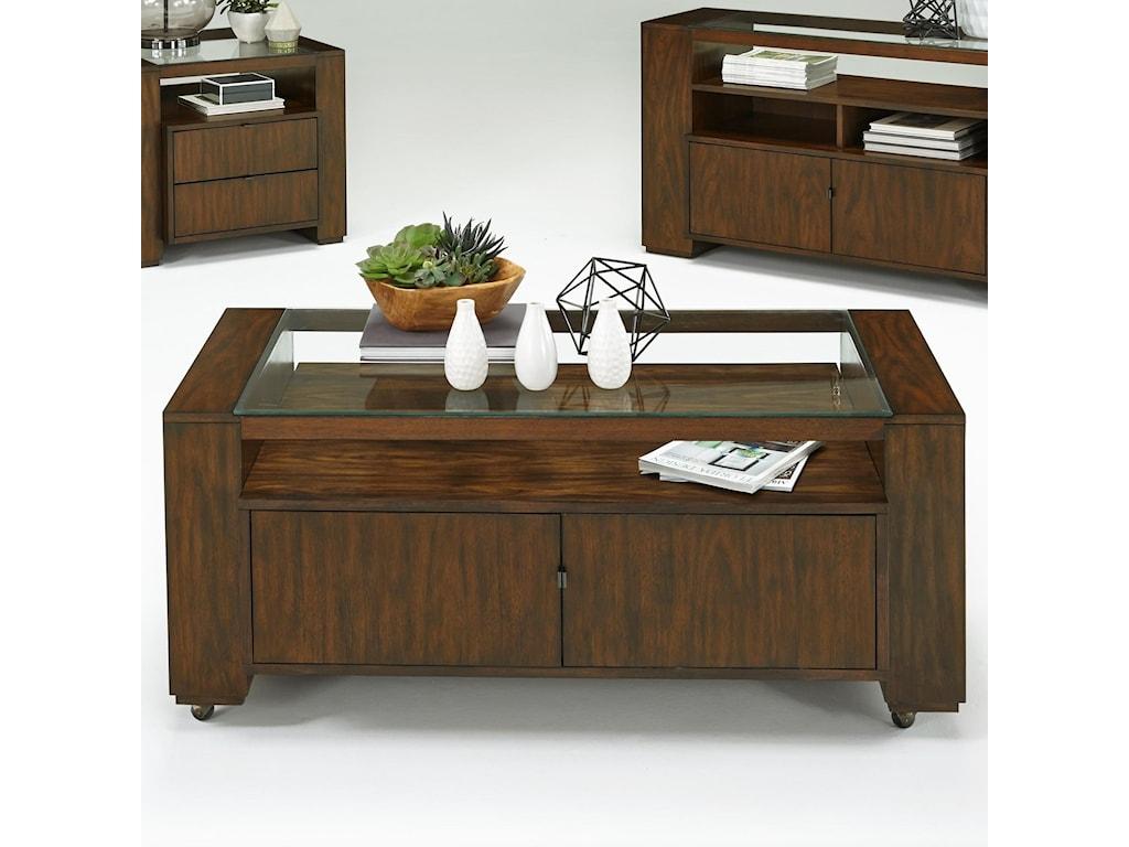 Progressive Furniture ContempoCastered Cocktail Table