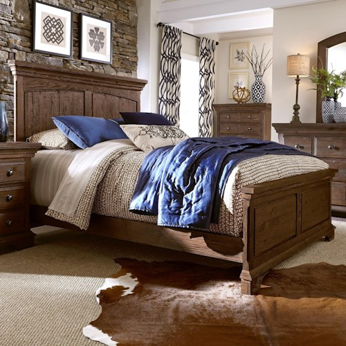 Progressive Furniture Copenhagen Solid Wood Pine Queen Panel Bed