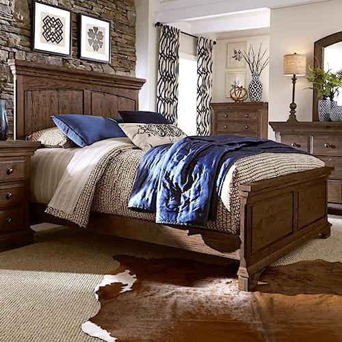 Progressive Furniture Copenhagen Solid Wood Pine Queen Panel Bed