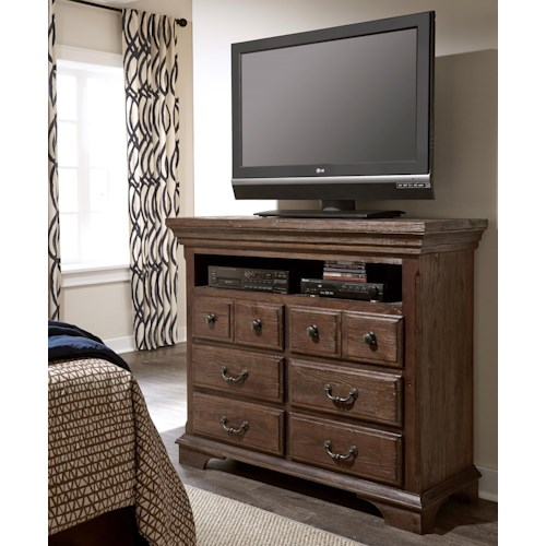 Progressive Furniture Copenhagen Transitional Solid Wood Pine Media Chest