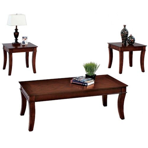 Progressive Furniture Corona 3 Pack Occasional Set w/ Cocktail Table & 2 End Tables