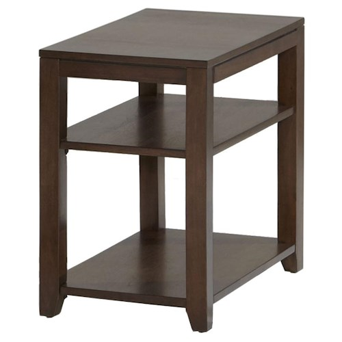 Progressive Furniture Daytona Contemporary Chairside Table with Pull-out Laminate Surface
