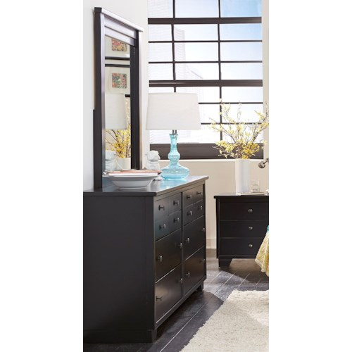 Progressive Furniture Diego Drawer Dresser & Vertical Mirror