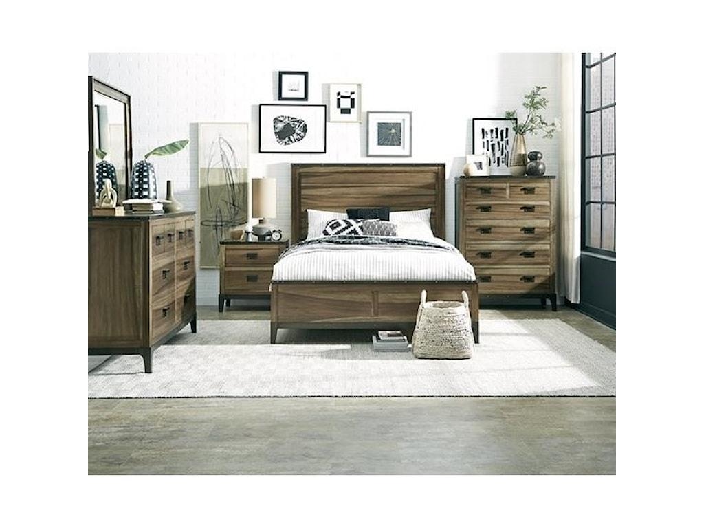 Progressive Furniture EditorQueen Panel Bed
