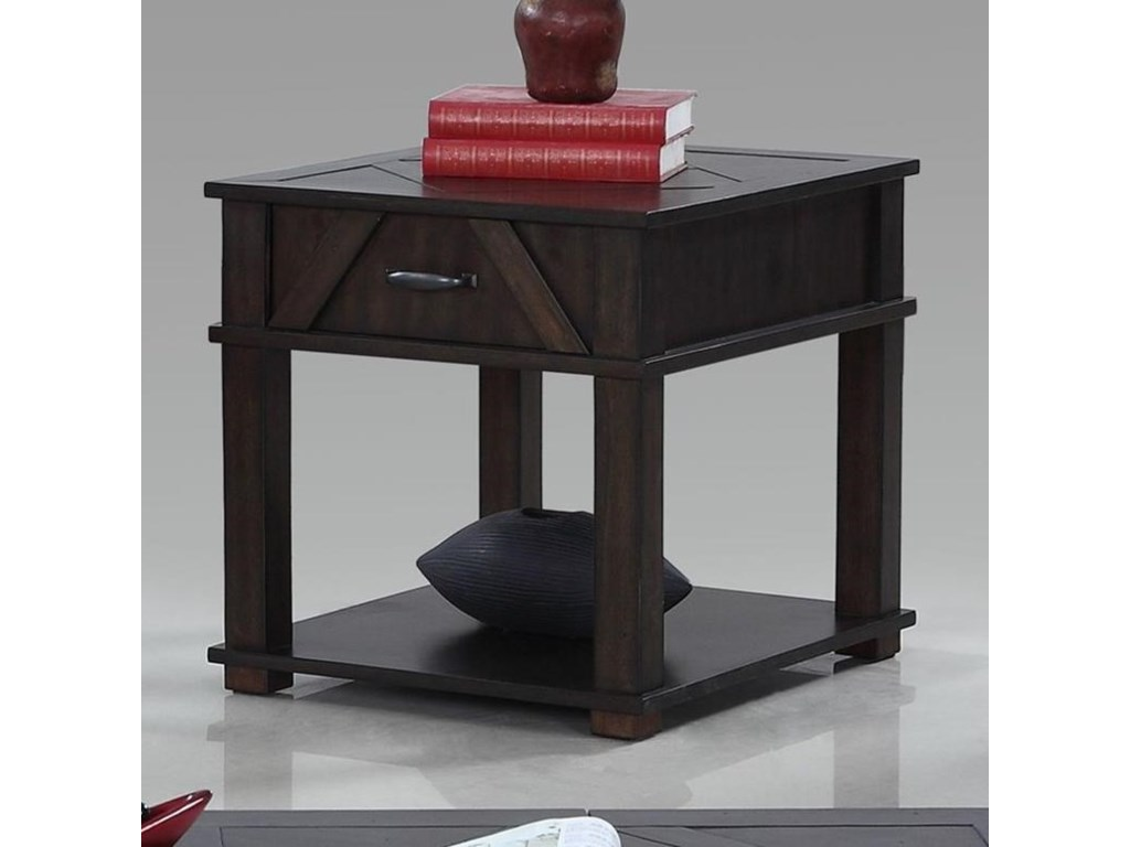 Progressive Furniture FoxcroftRectangular End Table
