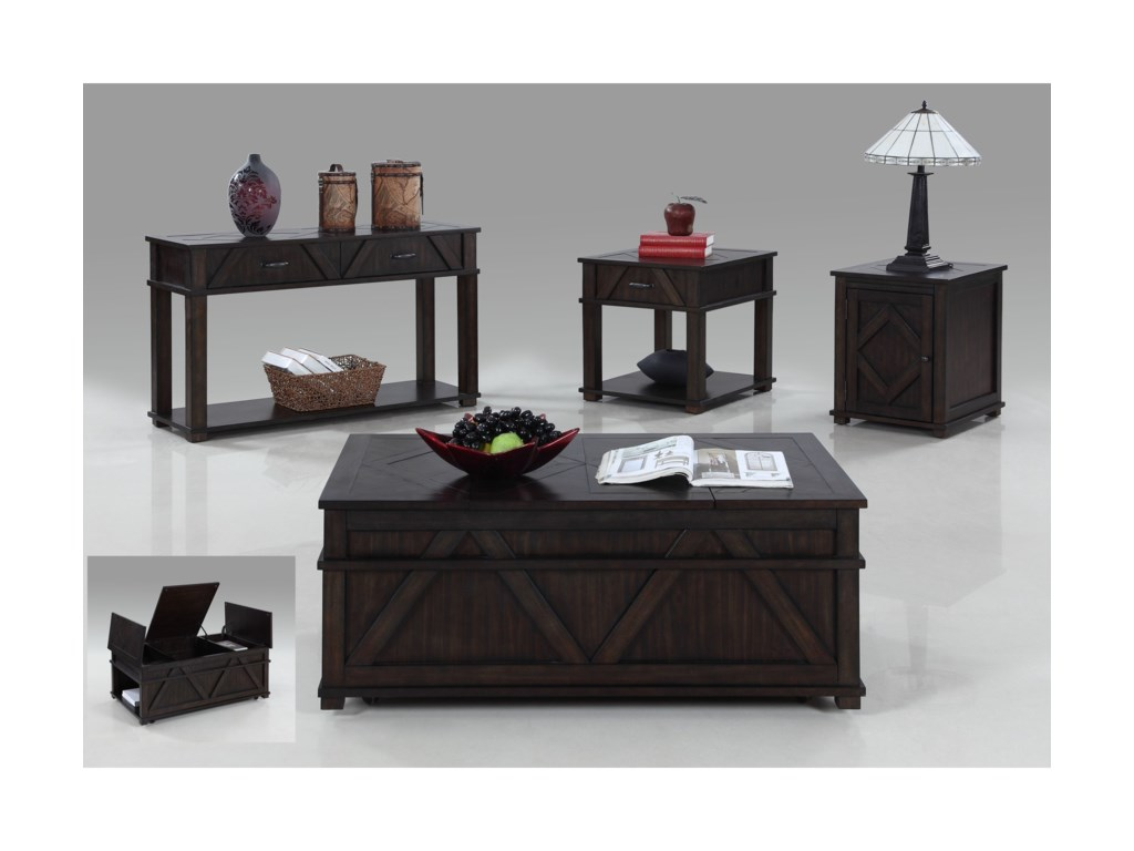 Progressive Furniture FoxcroftCastered Storage Chest Cocktail Table