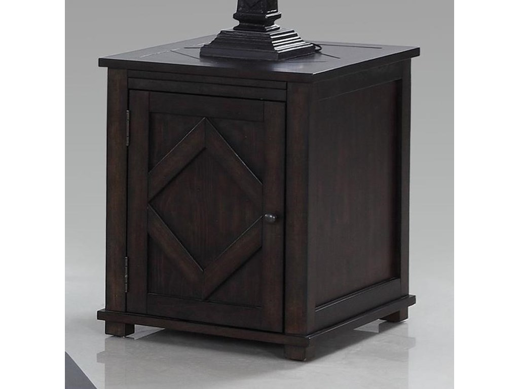 Progressive Furniture FoxcroftChairside Cabinet Table