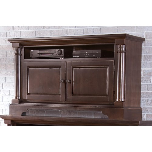 Progressive Furniture Gramercy Park Transitional 54 Inch Console with 2 Wood Doors