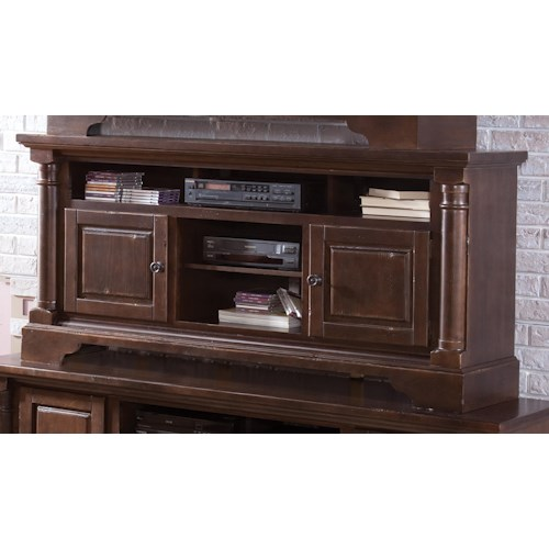 Progressive Furniture Gramercy Park Transtitional 64 Inch Console with 2 Wood Doors