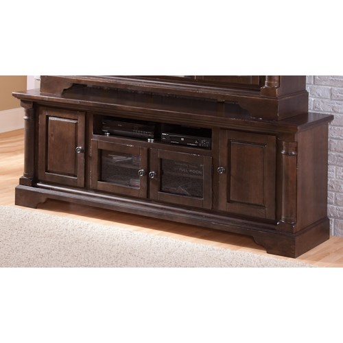 Progressive Furniture Gramercy Park Transitional 74 Inch Console with 2 Glass Doors & 2 Wood Doors
