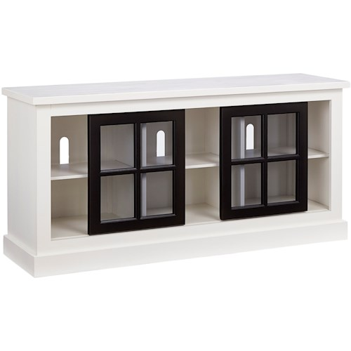 Progressive Furniture Habitat Transitional 58 Inch Console with Sliding Doors