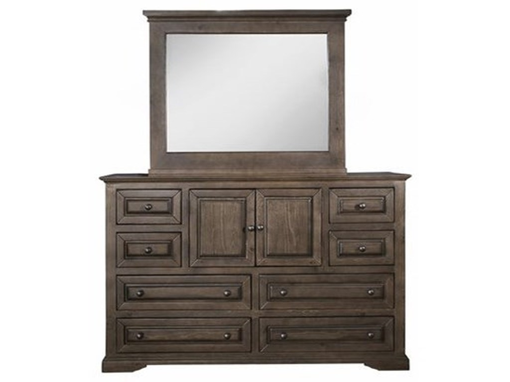 Progressive Furniture HamiltonDrawer Dresser & Mirror