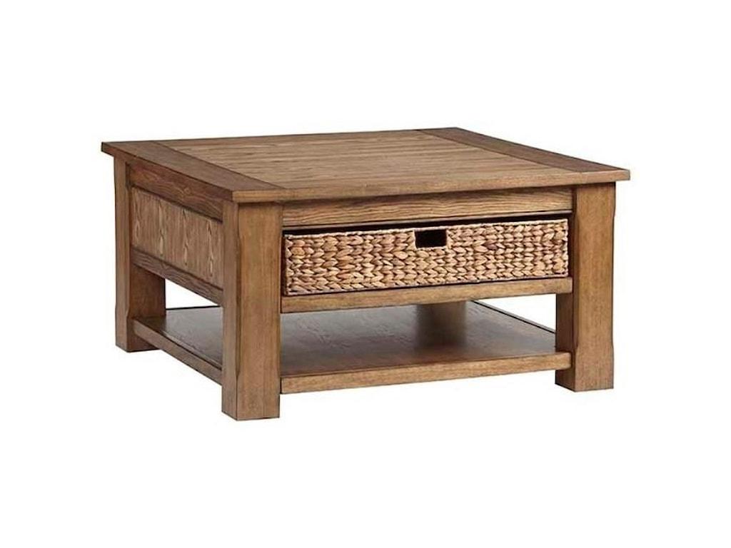Progressive Furniture Home Scene Casual Square Cocktail Table With 2