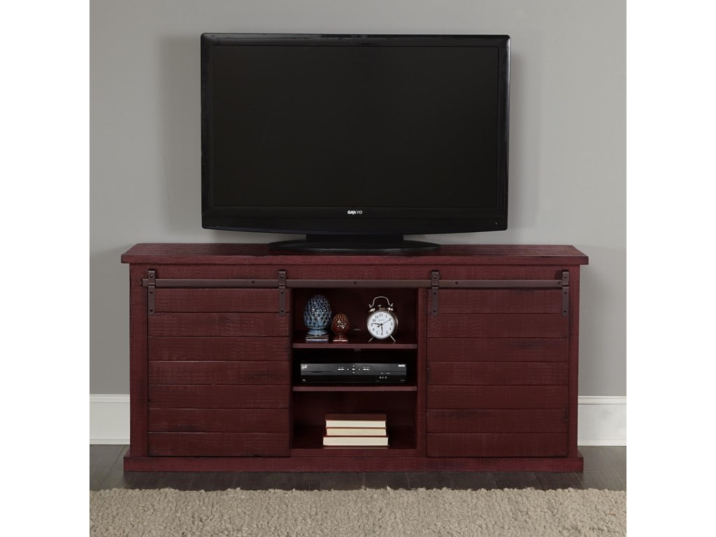 Progressive Furniture Huntington Rustic Entertainment Console With