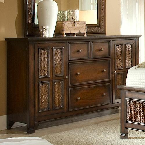 Progressive Furniture Kingston Isle 2 Door Dresser with 4 Drawers
