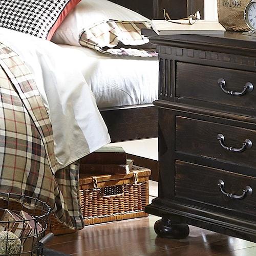 Progressive Furniture La Cantera Traditional Night Stand with 3 Drawers