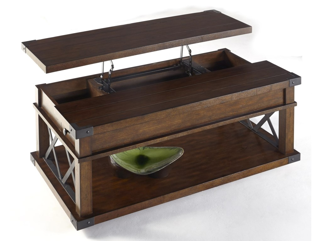Progressive Furniture LandmarkCastered Lift-Top Cocktail Table