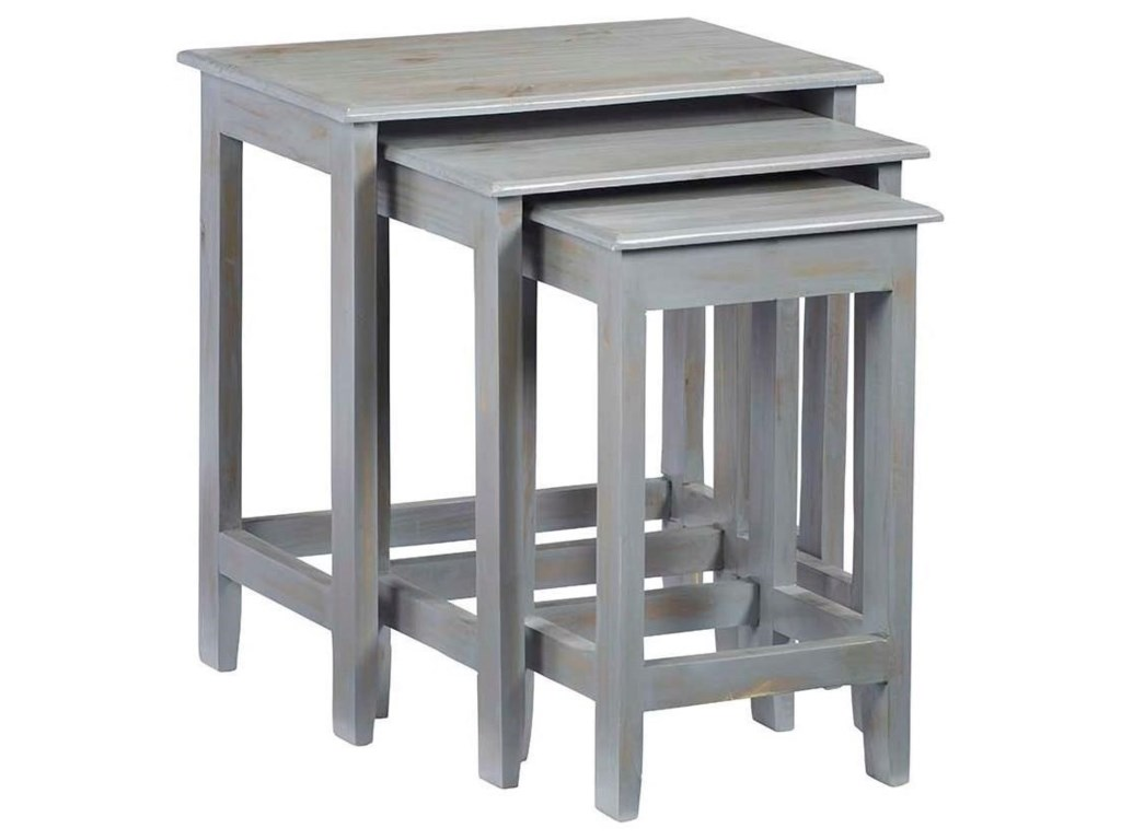 Progressive Furniture Logan3-Piece Nesting Table Set