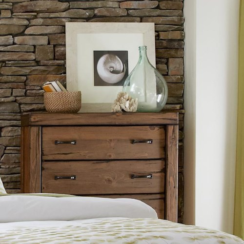 Progressive Furniture Maverick Rustic 5 Drawer Chest with Softened Corners and Block Feet