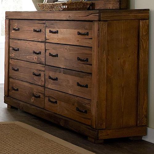 Progressive furniture maverick p626 23 8 drawer dresser for Furniture 0 percent financing