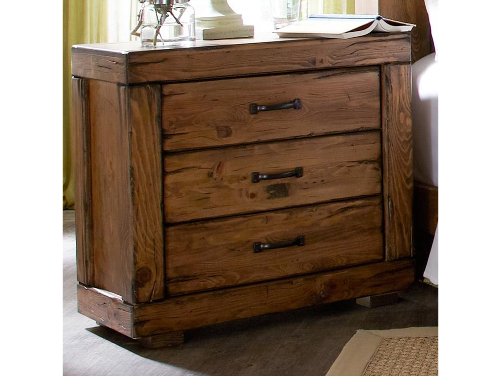 Progressive Furniture Maverick3 Drawer Nightstand