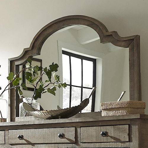 Progressive Furniture Meadow Scalloped Shape Mirror