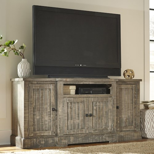 Progressive Furniture Meadow Rustic Breakfront Pine 72