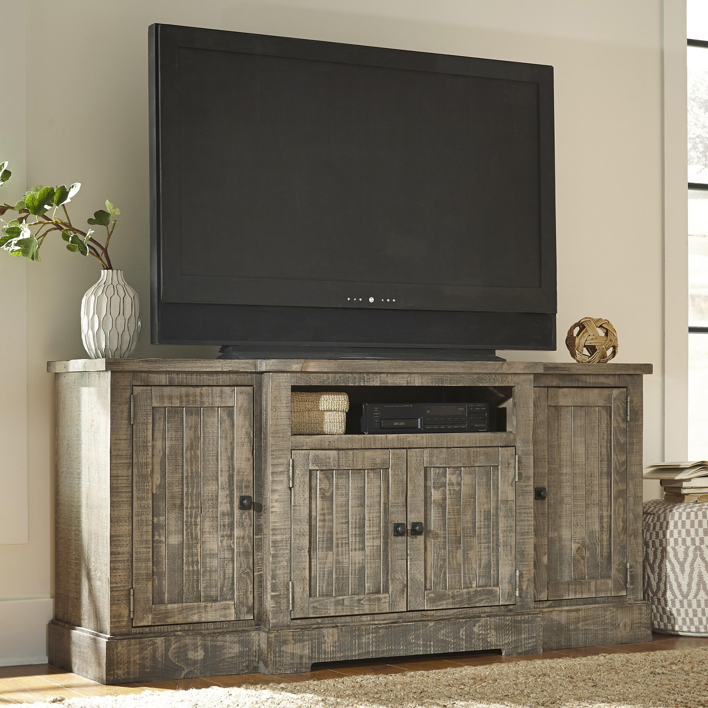 Progressive Furniture Meadow Rustic Breakfront Pine 72