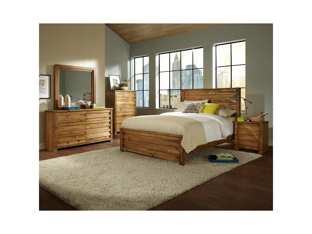 Progressive Furniture MelroseKing Panel Bed